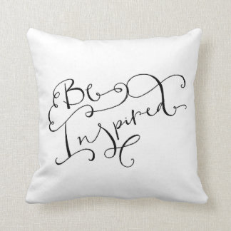 Scatter cushion, 'Be Inspired' calligraphy Pillows