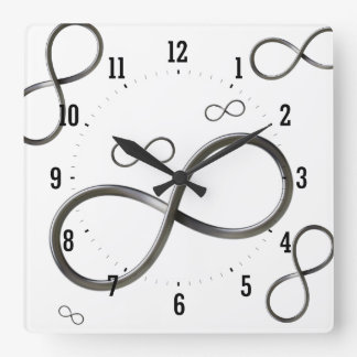 Scatter Infinity Symbol | Geek Square Wall Clock