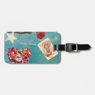 Scatter Joy! Glitter Collage Decorates Things Luggage Tag