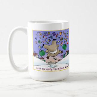 """Scatter Joy Wildly"" 12 oz. holiday mug! Classic White Coffee Mug"