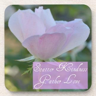 Scatter Kindness, Gather Love Rose Coaster Set