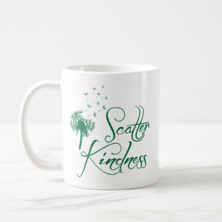 Scatter Kindness, green Coffee Mug