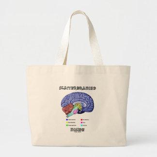 Scatterbrained Inside (Brain Anatomy Humor) Large Tote Bag