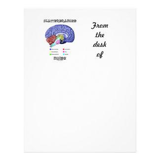 Scatterbrained Inside (Brain Humor) Letterhead