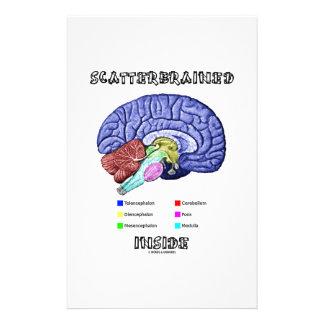 Scatterbrained Inside (Brain Humor) Stationery