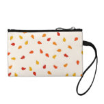 Scattered Autumn Leaves Pattern Purse Coin Wallets