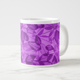 Scattered Autumn Leaves Shades of Fuschia Giant Coffee Mug