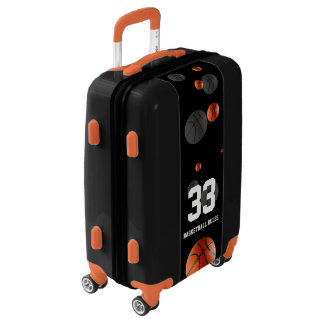 Scattered Basketball balls | Sports Rules Gift Luggage