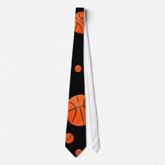 Scattered Basketballs | Sports Gift Neck Tie