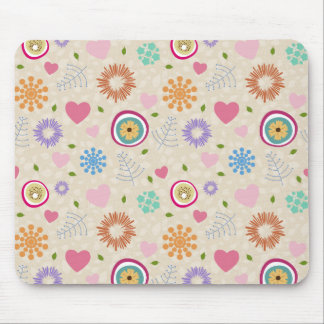Scattered Blooms Mouse Pad