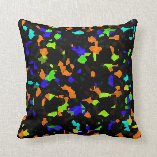 Scattered colorful pieces pillow