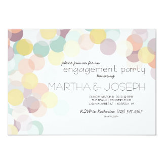 Scattered Confetti Spring Engagement Party Card