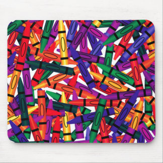 Scattered Crayons Mousepad