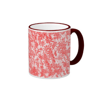 Scattered-Daisies Ringer Coffee Mug