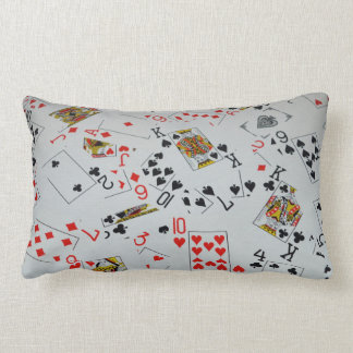 Scattered Deck Of Cards, Lumbar Cushion. Lumbar Pillow