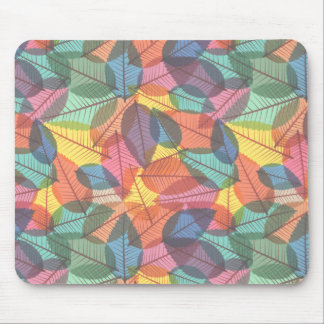 Scattered Fall Leaves Pastels Mouse Pad
