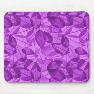 Scattered Fall Leaves Shades of Fuschia Mouse Pad
