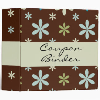 Scattered Flower Organizer Binder / 2 inch