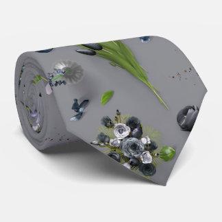 Scattered Flowers Black Tie