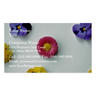 Scattered Flowers on white background Business Card