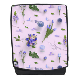 Scattered Flowers Purple Backpack