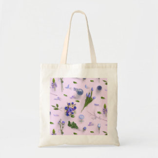 Scattered Flowers Purple Tote Bag