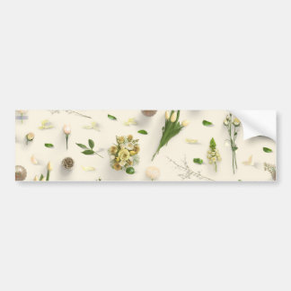 Scattered Flowers Yellow Bumper Sticker