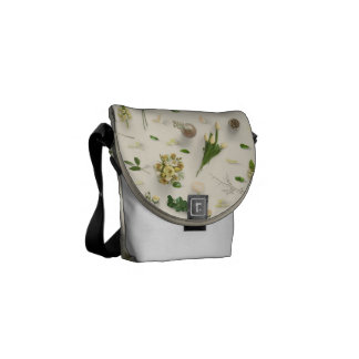 Scattered Flowers Yellow Courier Bag