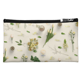 Scattered Flowers Yellow Makeup Bag