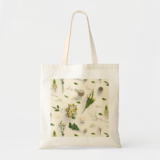 Scattered Flowers Yellow Tote Bag