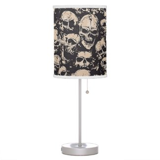 Scattered Grunge Skulls Desk Lamp
