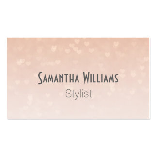 Scattered Hearts Dusty Rose Business Card