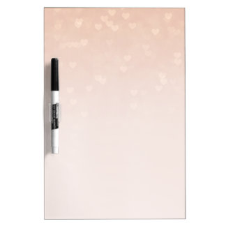 Scattered Hearts Dusty Rose Ombre Dry-Erase Board