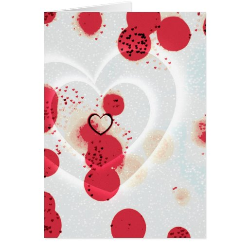 Scattered Hearts Greeting Card