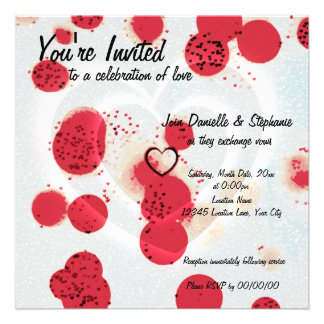 Scattered Hearts Personalized Announcement