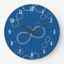 Scattered Infinity Symbols   Geek Gifts Large Clock
