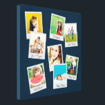 """Scattered Instagram Photo Collage Canvas Print<br><div class=""""desc"""">Custom personalized photo wrapped canvas print with a collage of your square Instagram photos in fun frames. Click Customize It to move photos,  edit fonts or add your own text. This template works best with photos that are already cropped to squares before uploading.</div>"""