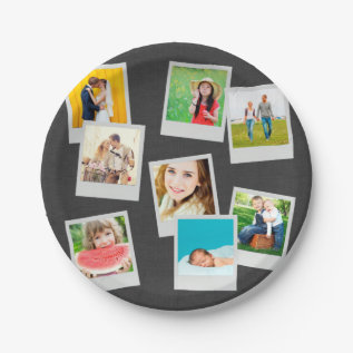 Scattered Instagram Photo Collage Paper Plate at Zazzle