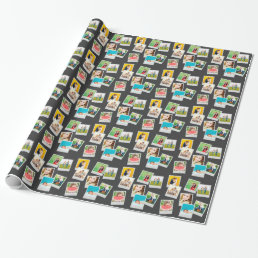 Scattered Instagram Photo Collage Wrapping Paper