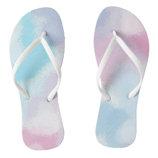 Scattered paint flip flops