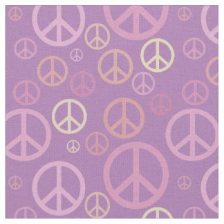 Scattered Peace Signs Pastels SPST Fabric