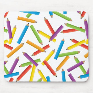 Scattered Pencils Mouse Pad