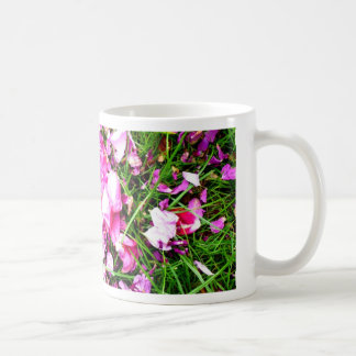 scattered petals classic white coffee mug