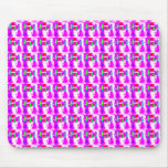 Scattered Pink Abstract Patterns Mousepad