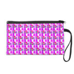 Scattered Pink Abstract Patterns Wristlet Purses