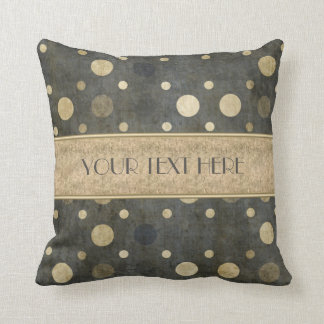 Scattered Polka Dots Gold Pillow