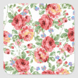 Scattered Roses by BobCatDesign Square Sticker