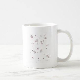 Scattered Silver Faerie Stars Coffee Mug