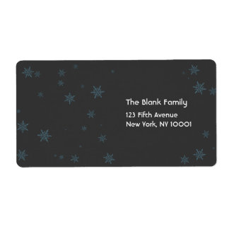 scattered snowflakes label