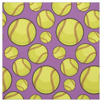 Scattered Softball Balls Fabric